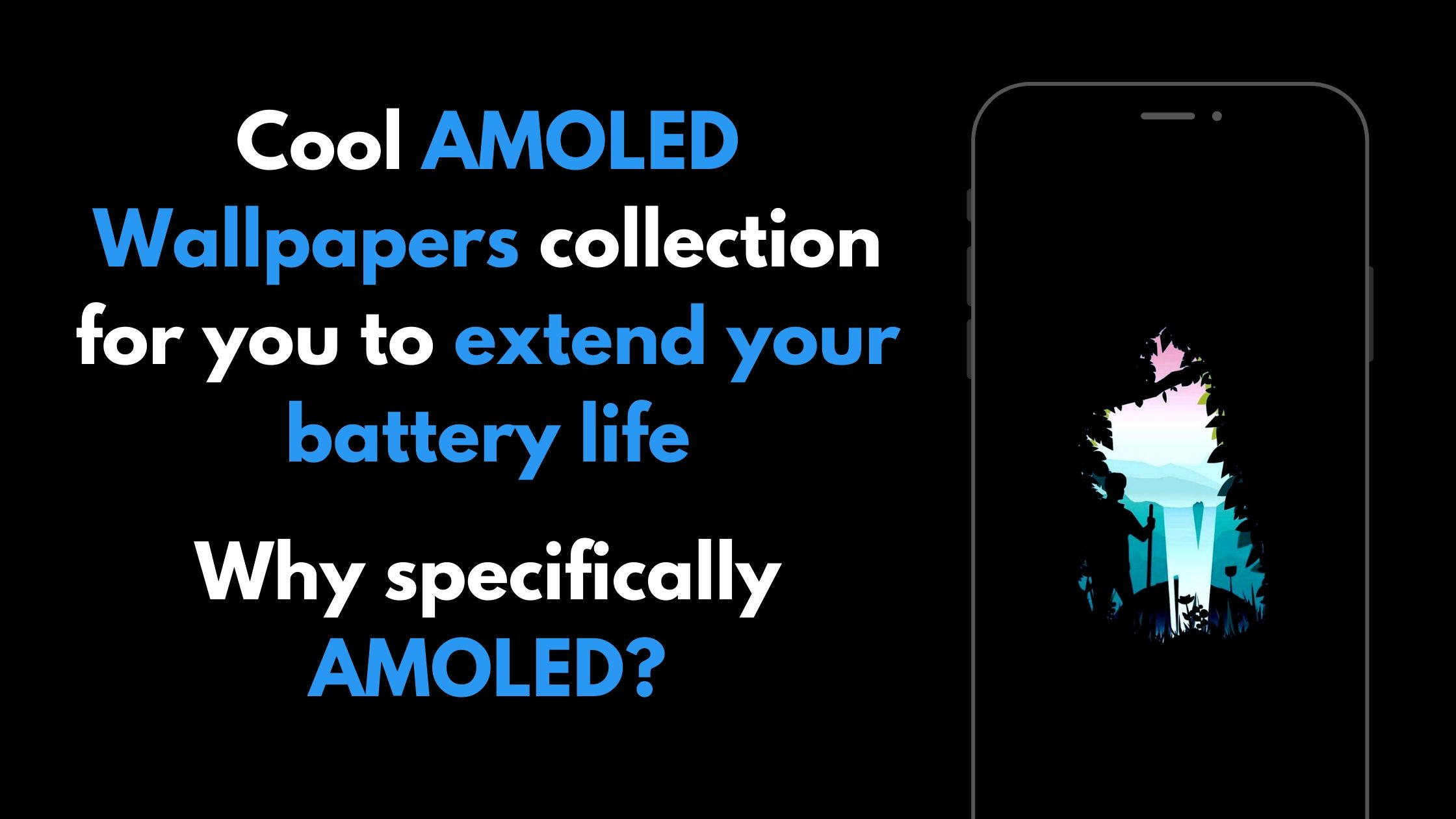 How AMOLED Wallpapers can save your battery?