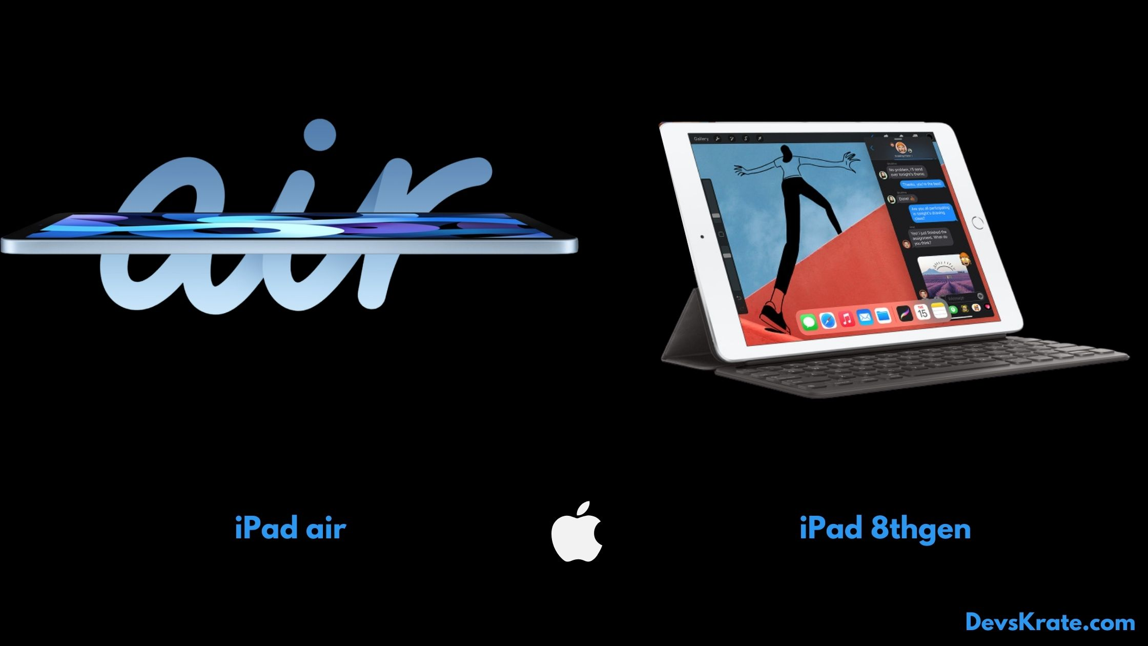 Apple iPad air and ipad 8th gen details, specs and features.