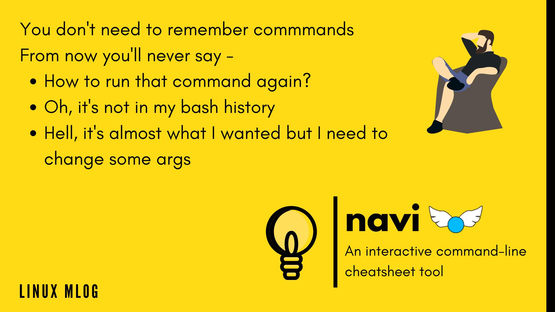 Navi - An interactive commandline cheatsheet tool