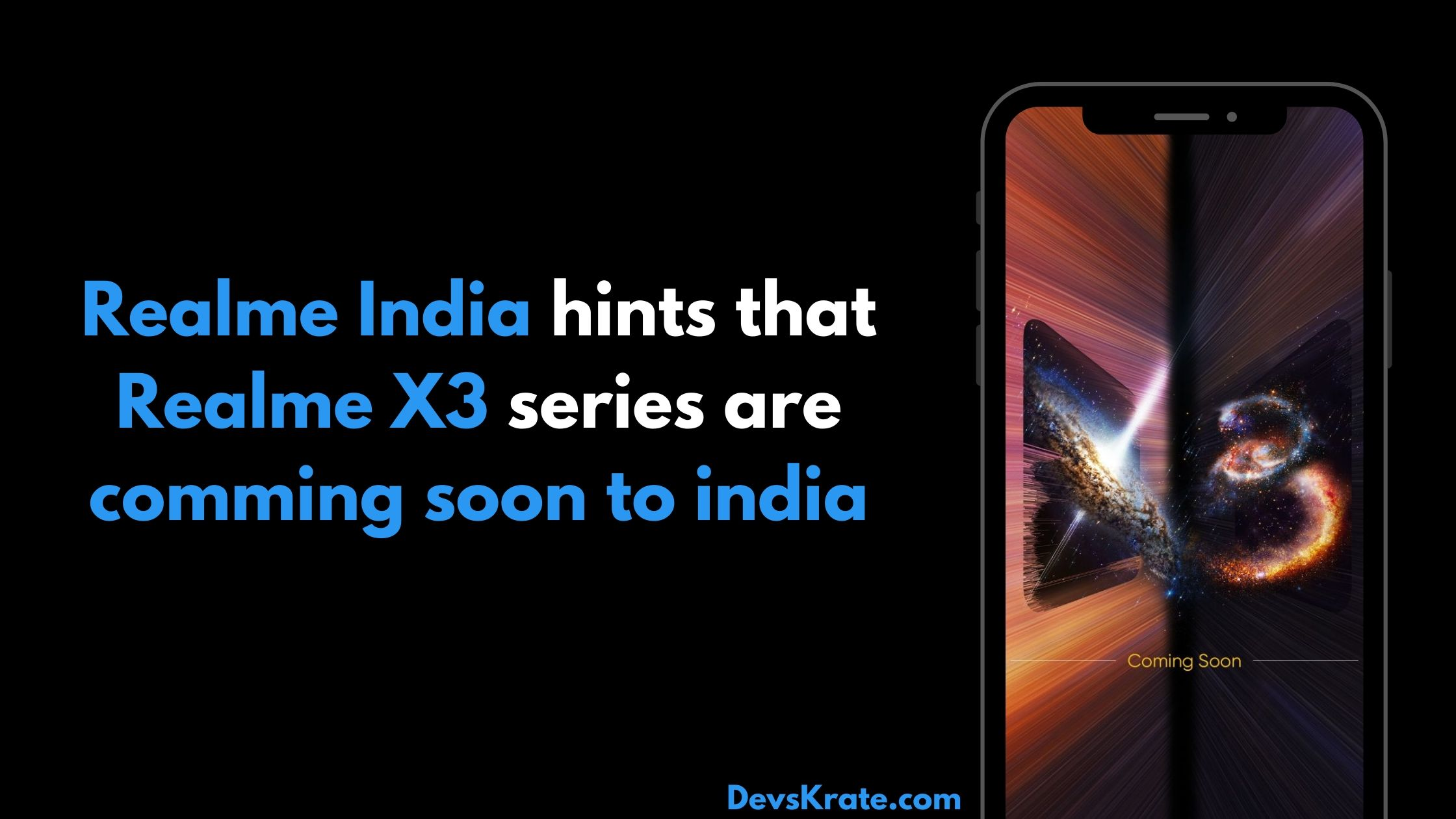 Realme X3 series coming to India
