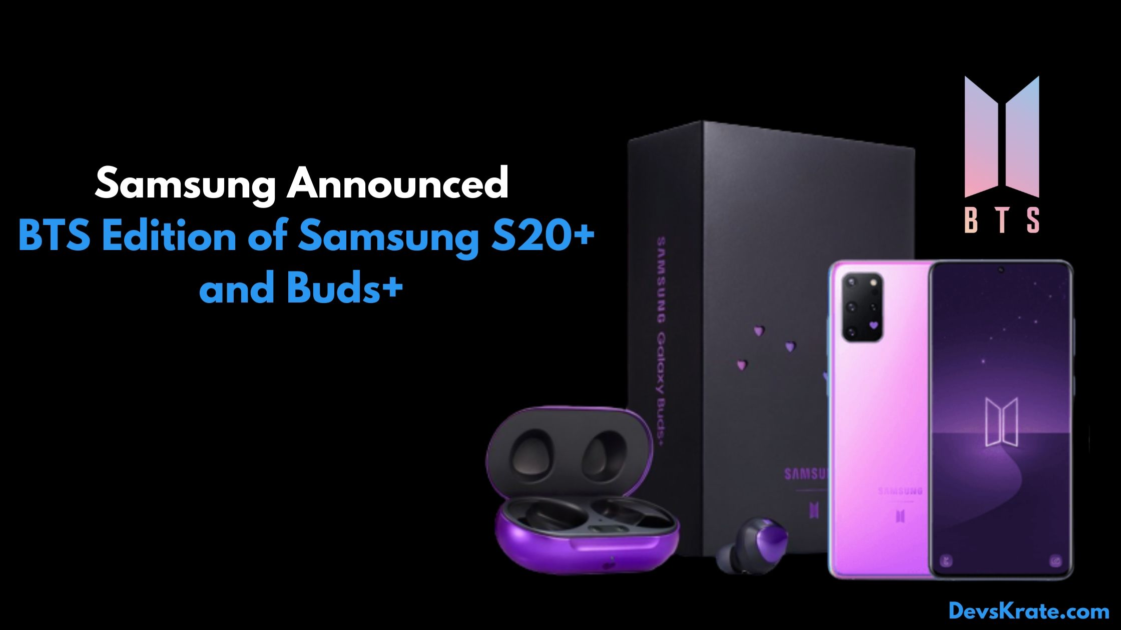 Samsung Announced Bts Edition Of S20 And Buds Devskrate