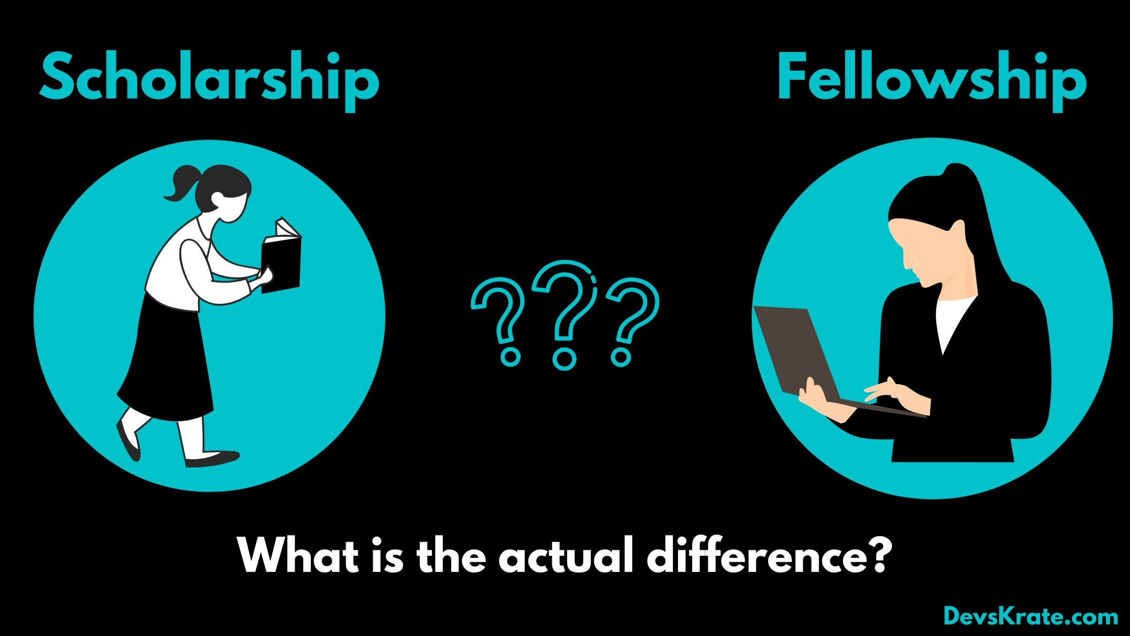 What is the difference between Scholarship and Fellowship?