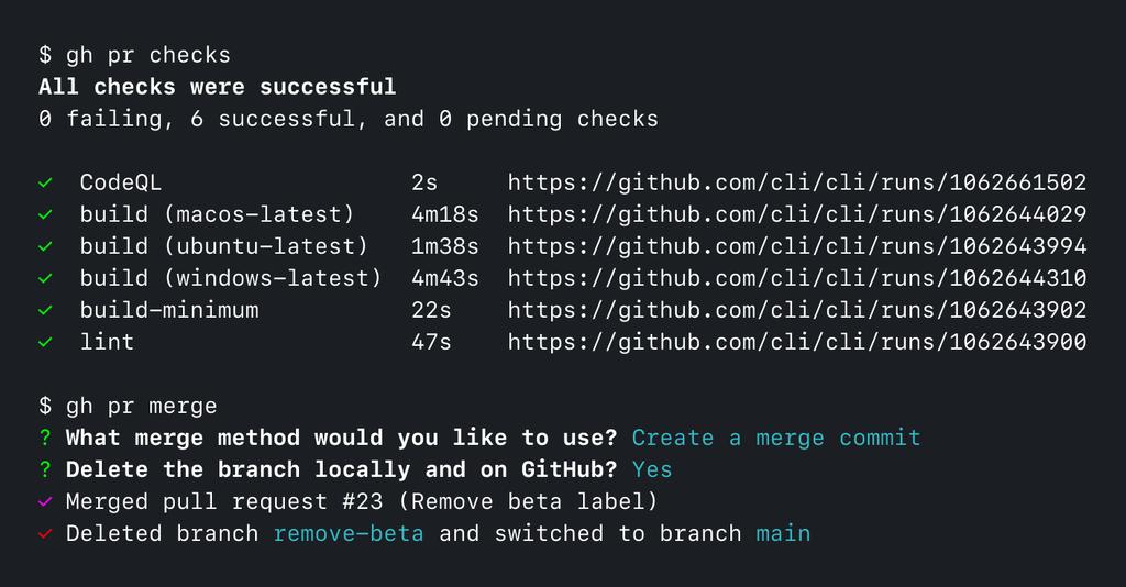 gh issue list on github cli app